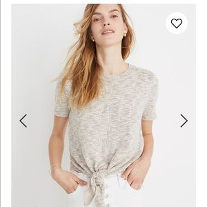 Madewell knot-front sweater tee